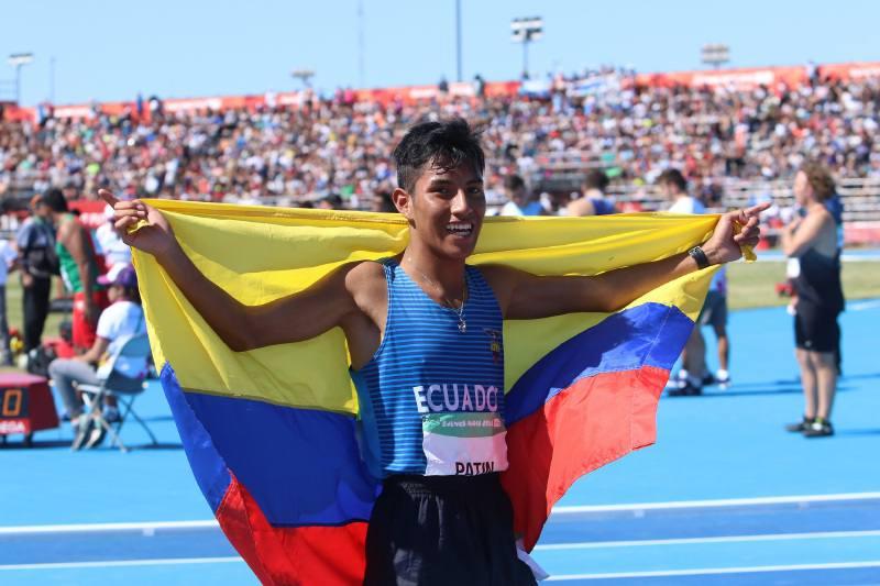 El nuevo campeón de marcha, Óscar Patín, es de Guaranda